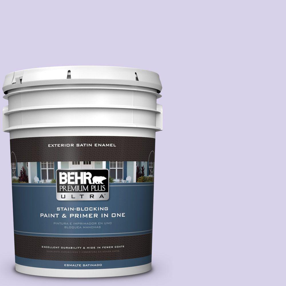 BEHR Premium Plus Ultra 5-gal. #P560-2 Air Castle Satin Enamel Exterior Paint