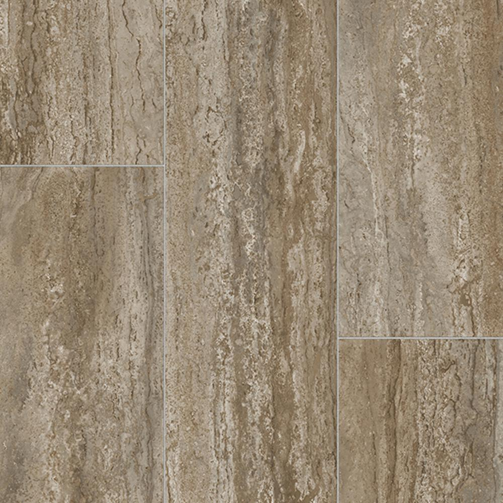 Take Home Sample - Rectangular Travertine Stone Neutral Vinyl Sheet -