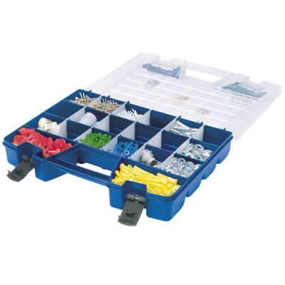 Large 18 in. 62-Compartment Portable Small Parts Organizer with Lid Storage