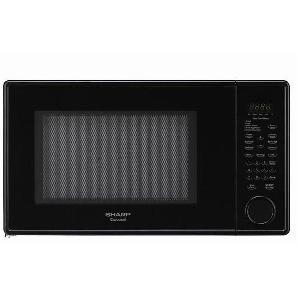 Sharp 1.3 cu. ft. Countertop Microwave in Smooth Black-DISCONTINUED