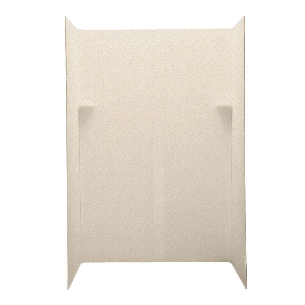 Swanstone Barcelona 34 in. x 60 in. x 72 in. Five Piece Easy Up Adhesive Shower Wall Kit in Almond Galaxy-DISCONTINUED