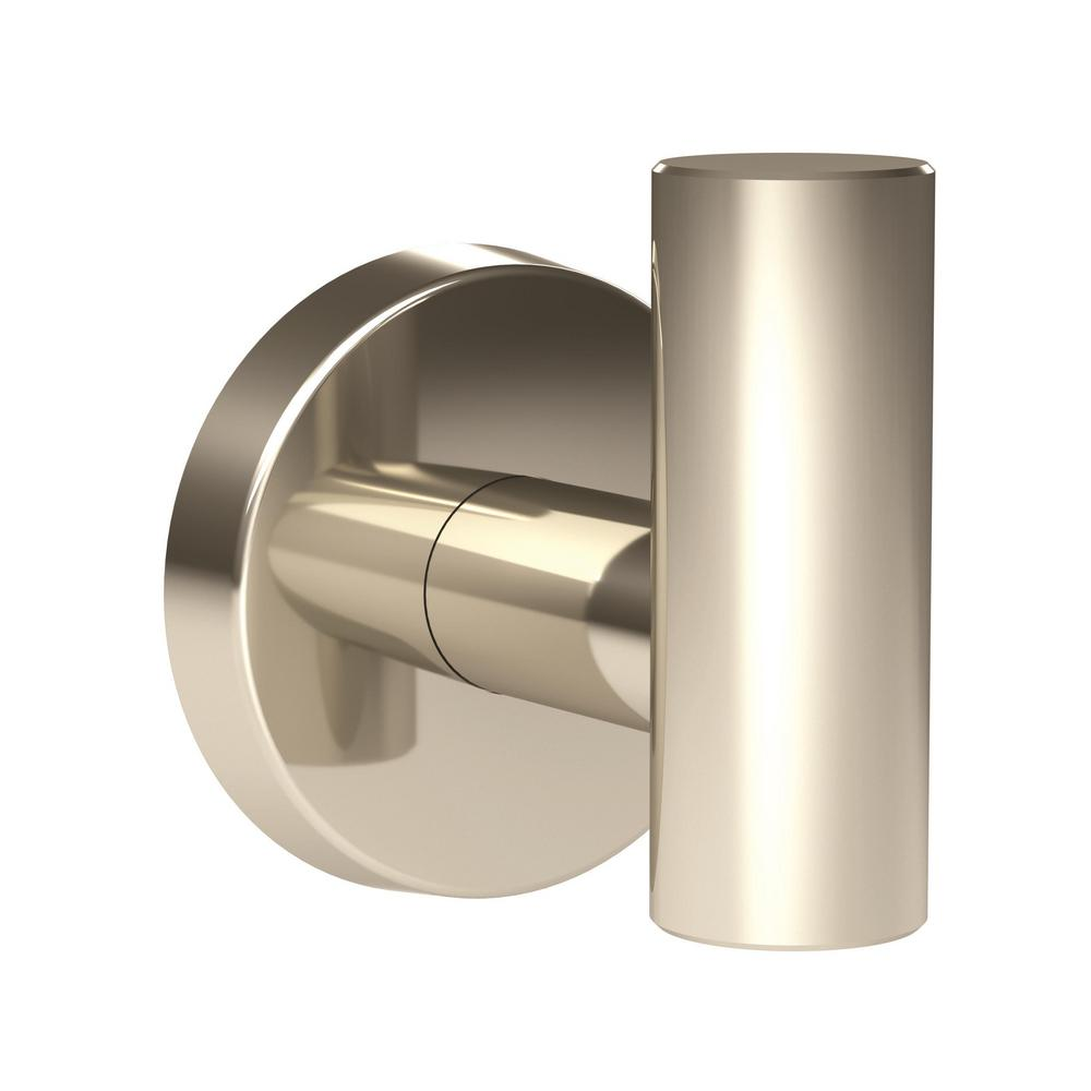 Arrondi Single Robe Hook in Polished Stainless Steel
