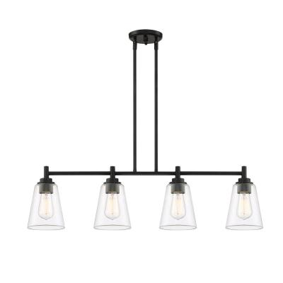 Westin 4-Light Matte Black Island Pendant