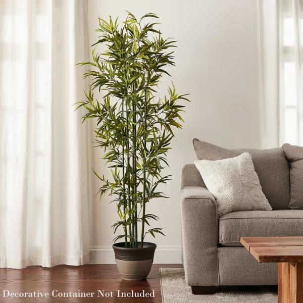 Pure Garden 72 In Artificial Bamboo Plant With Pot Hw1500236 The Home Depot