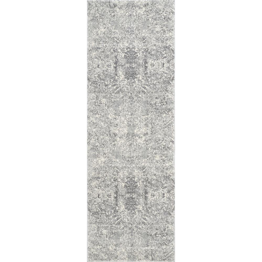 Vintage Floral Aiken Grey 3 ft. x 8 ft. Runner Rug