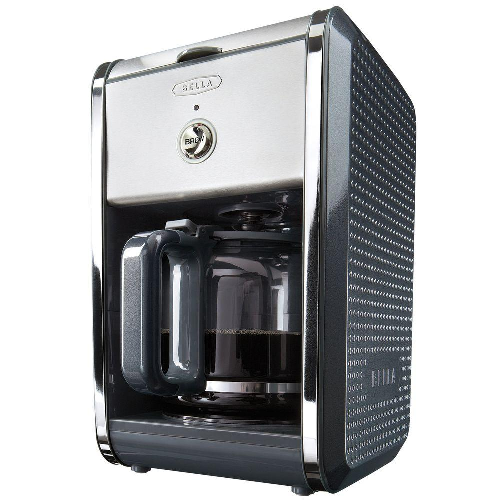 Bella Dots 12-Cup Switch Coffee Maker in Grey