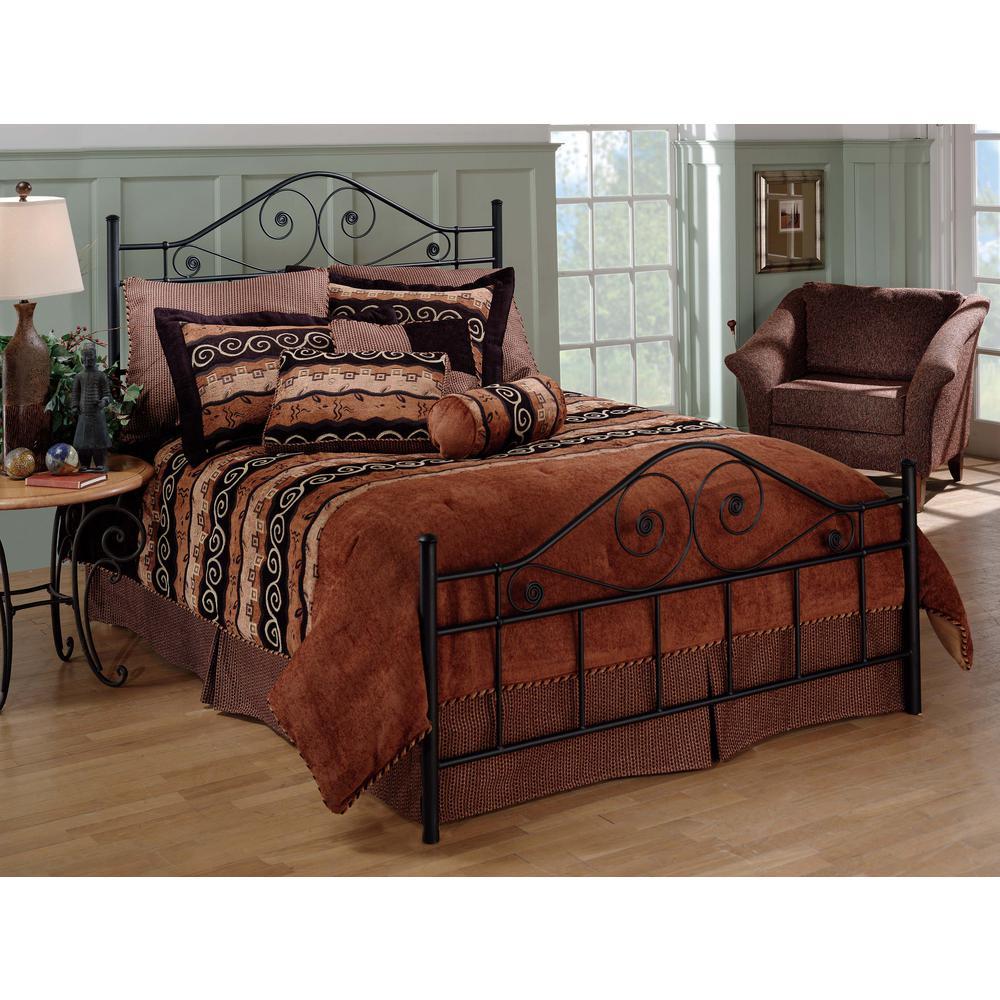 Harrison Textured Black Full Bed Frame