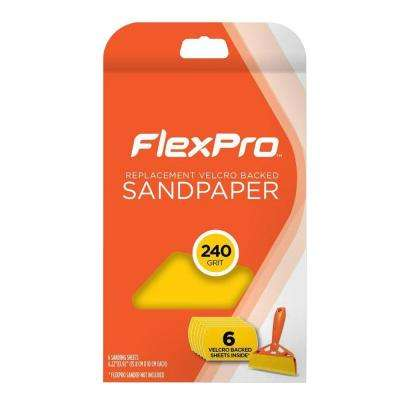 240 Grit Replacement Sandpaper (6-Pack)