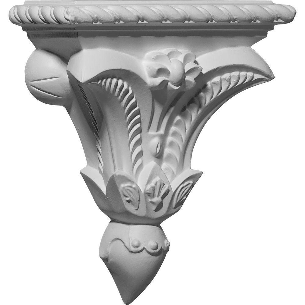 7-3/8 in. x 3-1/4 in. x 8-3/4 in. Primed Polyurethane Pompeii Corbel