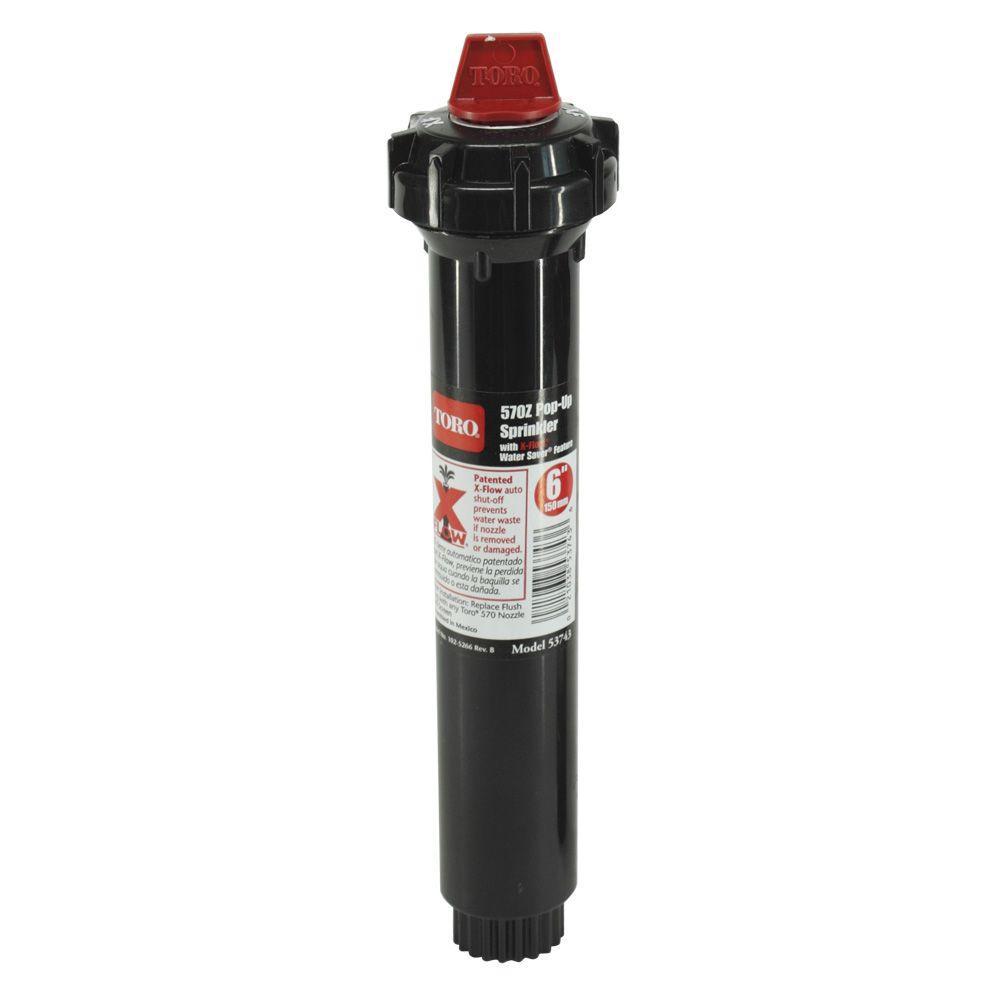 Toro 570z Pro Series Plastic 6 In Pop Up Sprinkler Head Body 53743 The Home Depot