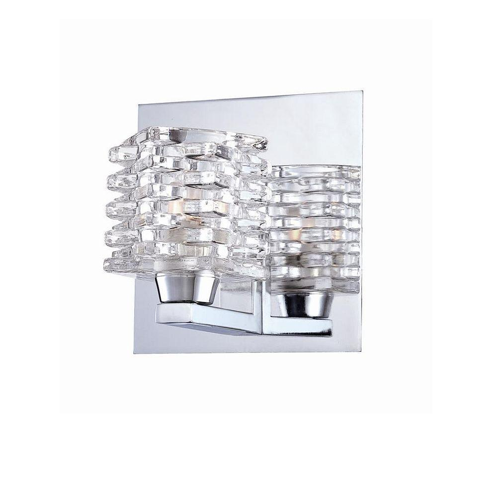 null Lenza Collection 1-Light Chrome Wall Sconce