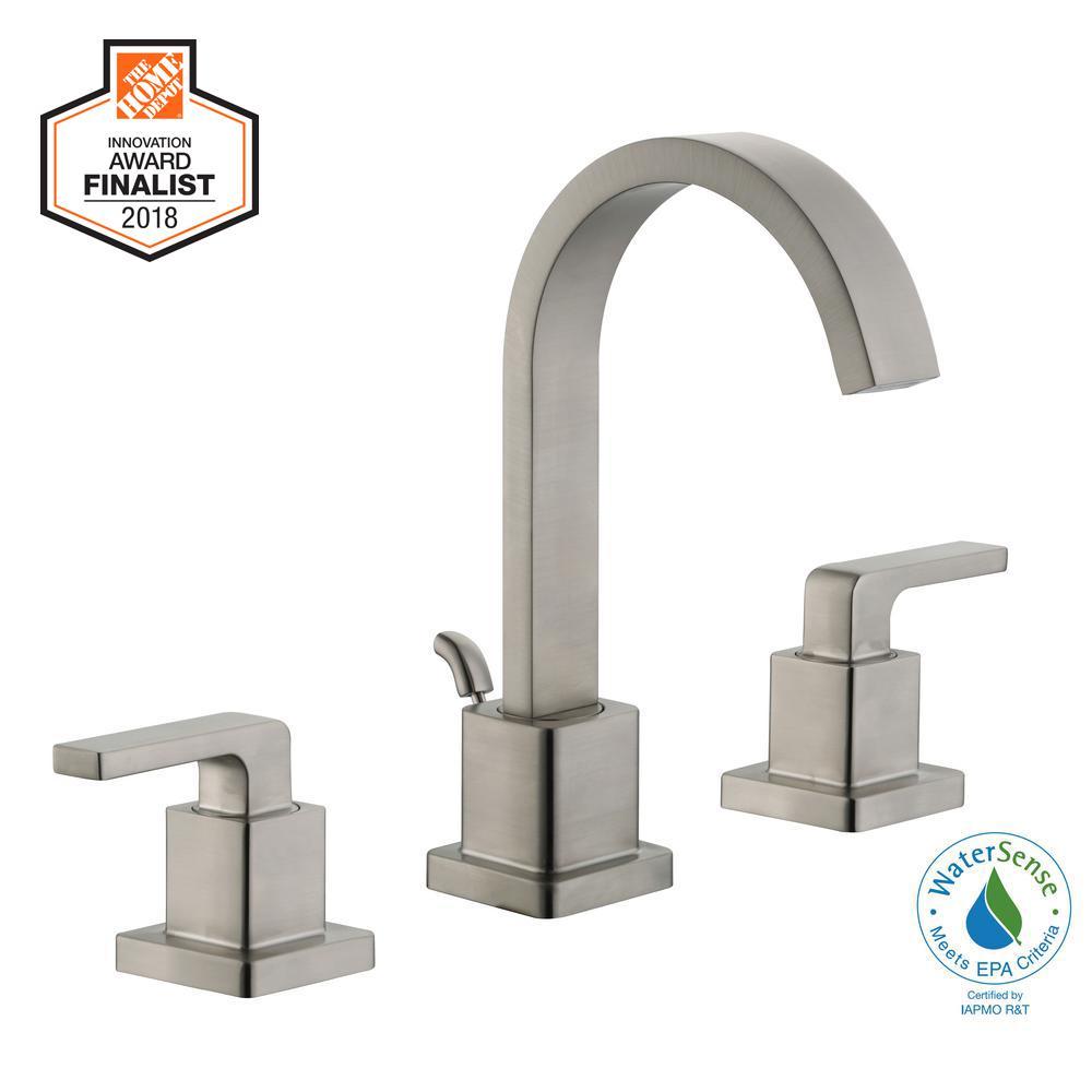 Farrington 8 in. Widespread 2-Handle Bathroom Faucet in Brushed Nickel