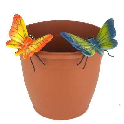 2-Piece Yellow and Blue Butterfly Flower Pot Sitter Hanger