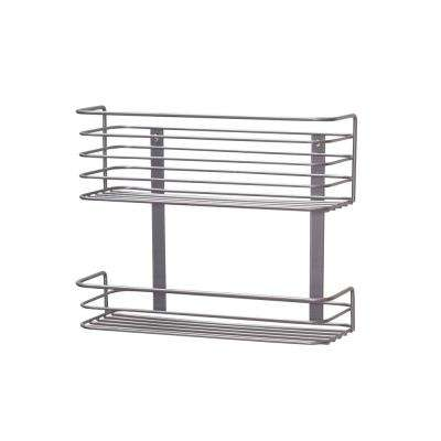 Nickel Door Mount Double Rack