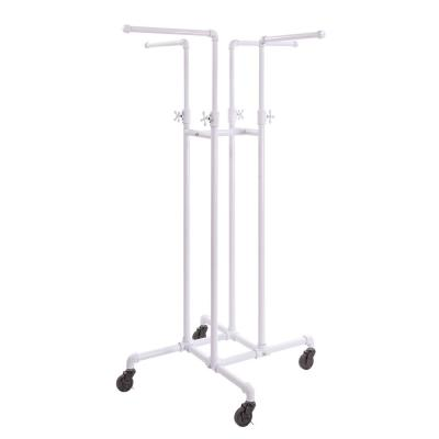 Pipeline Adjustable Height Metal Clothes Rack with Wheels (16 in. W x 72 in. H)