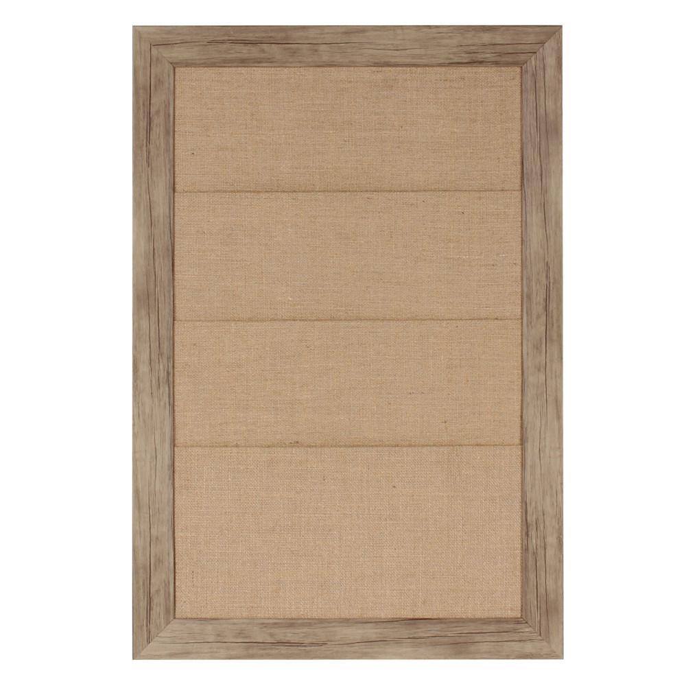 Beatrice Burlap Fabric Pocket Memo Board