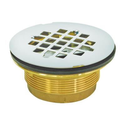 2 in. Brass IPS No-Caulk Shower Drain