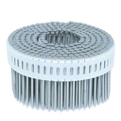 2.25 in. x 0.092 in. 0-Degree Ring Stainless Plastic Sheet Coil Nail 4,000 per Box