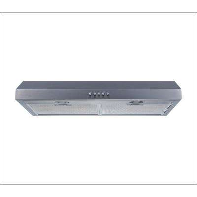 30 in. Under Cabinet Range Hood in Stainless Steel with Aluminum Filters, LED Lights and Push Button Control