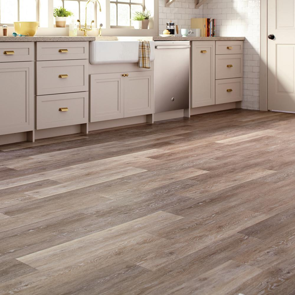 Trafficmaster Brushed Oak Taupe 6 In W