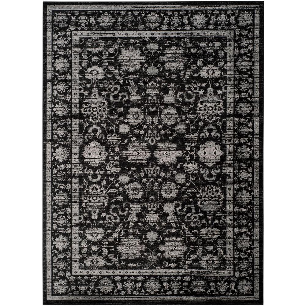 Safavieh Vintage Black Light Grey 9 Ft X 12 Ft Area Rug