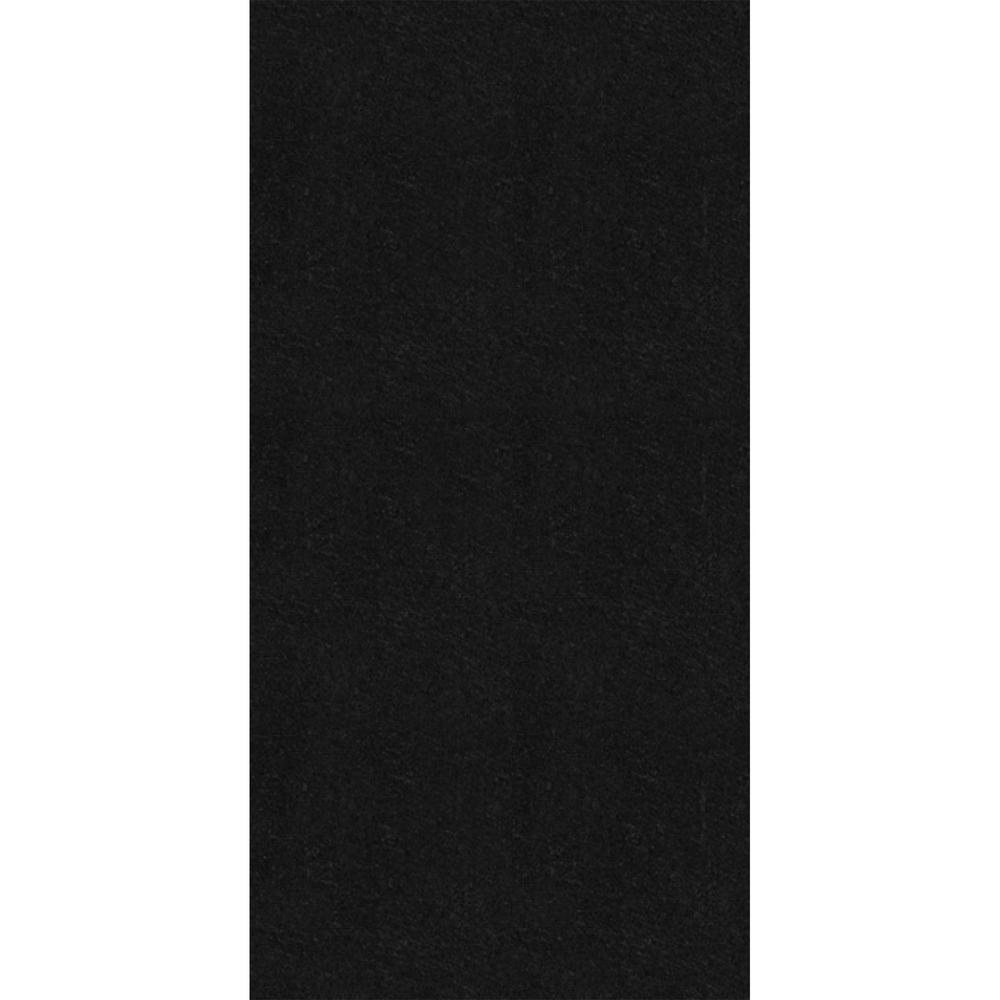 Black 1 ft. x 2 ft. Fiberglass Stuck On Ceiling Tile (Case of 20)