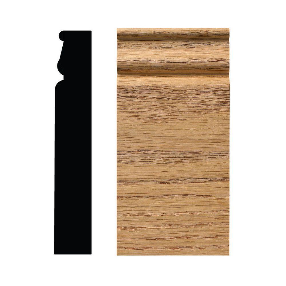 889PB 1-1/16 in. x 3-1/4 in. x 8 in. Red Oak Plinth Block Moulding