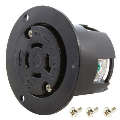 20 Amp 250-Volt 3-Phase Flanged Outlet UL and C-UL Listed