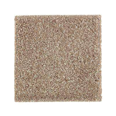 Carpet Sample - Whirlwind I - Color Desert Trail Texture 8 in. x 8 in.