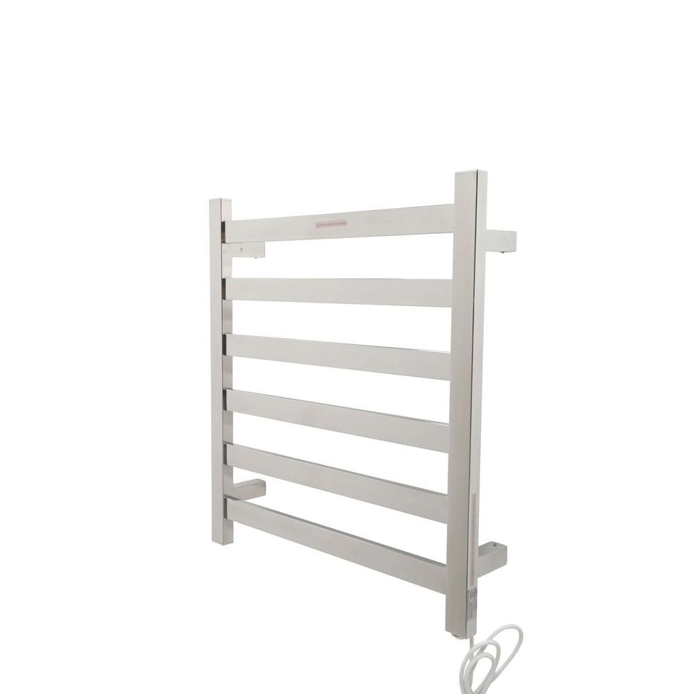 towel warmer rack. ANZZI Note 6-Bar Stainless Steel Wall Mounted Electric Towel Warmer Rack In Polished Chrome O