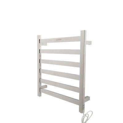 Note 6-Bar Stainless Steel Wall Mounted Electric Towel Warmer Rack in Polished Chrome
