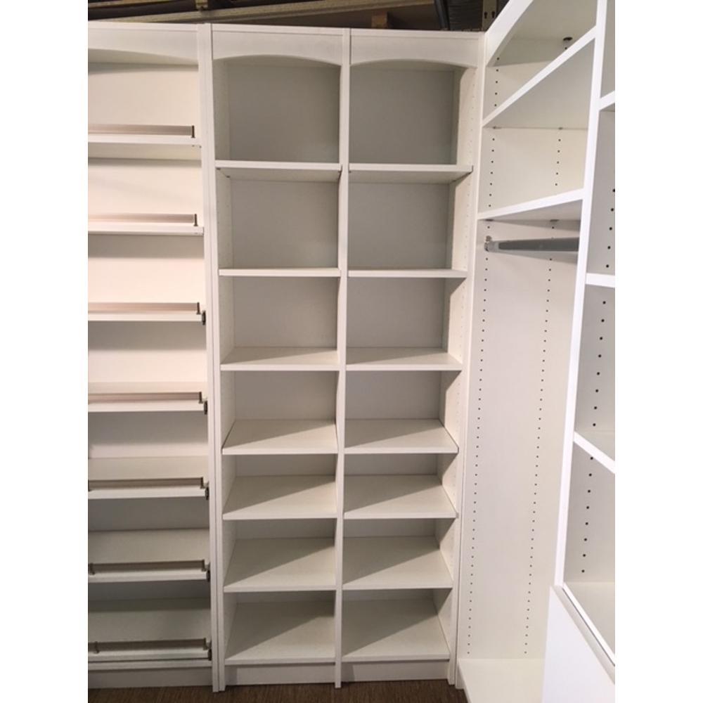 14 in. D x 32 in. W x 84 in. L Accessories Storage Freestanding White Melamine Wood