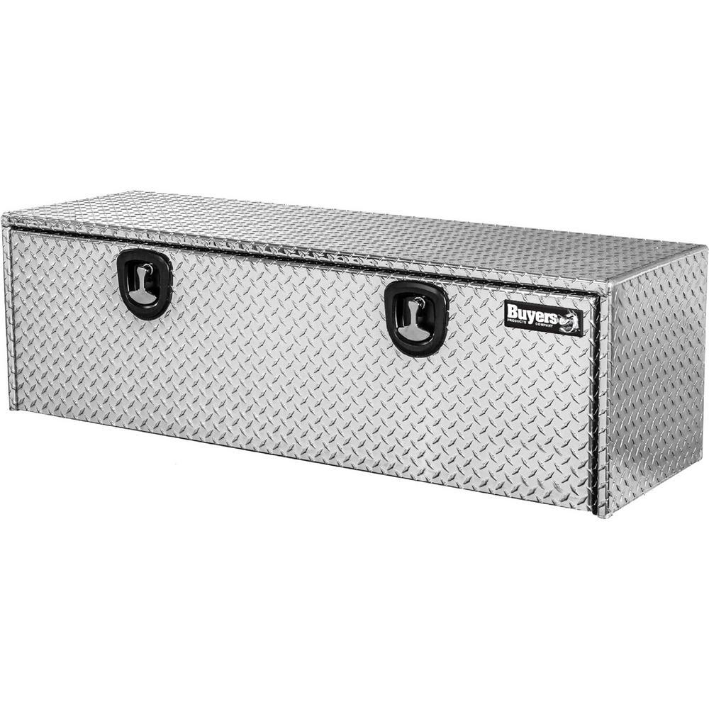 60 in. Aluminum Recessed Door Underbody Tool Box with T-Handle Latch