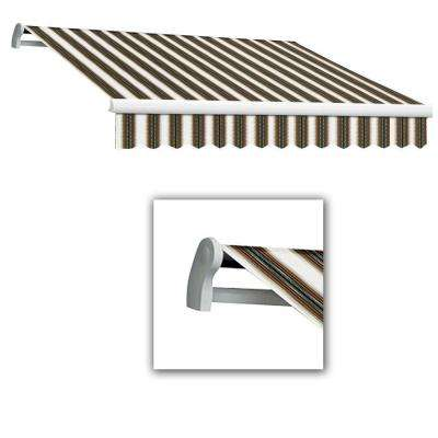 14 ft. Maui-LX Manual Retractable Awning (120 in. Projection) Burgundy/Forest/Tan Multi