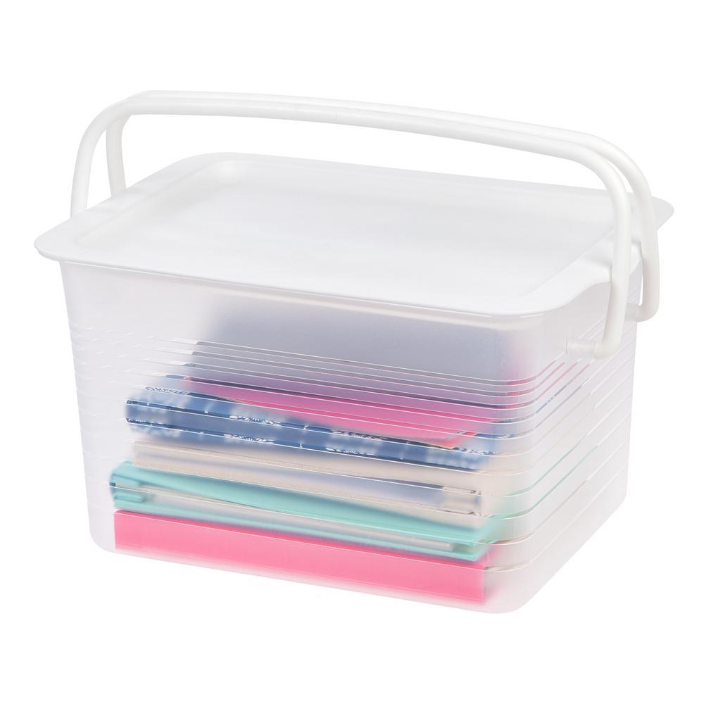 Medium Stacking Storage Basket w/ Handles (4-Pack)