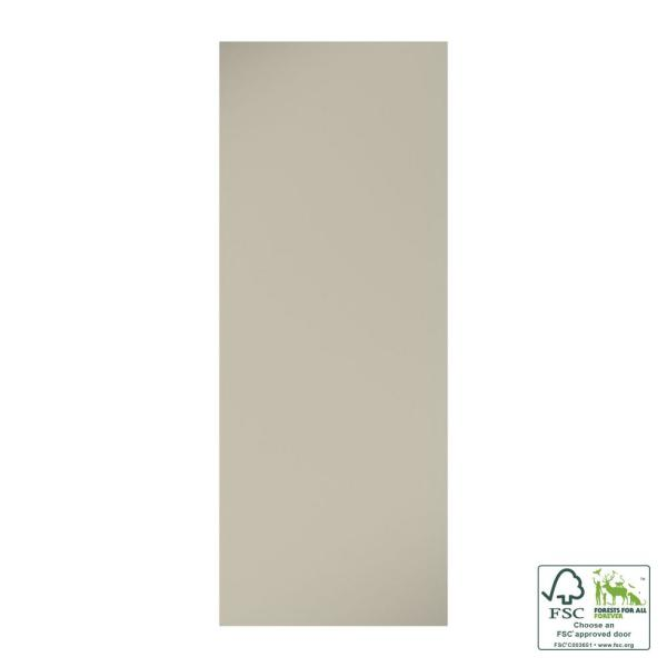24 in. x 80 in. x 1-3/8 in. Contemporary Flat White Primed Core Flush Wood Interior Slab Door
