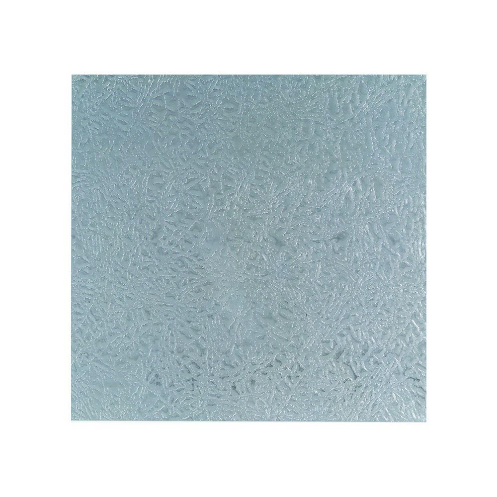 12 in. x 24 in. Leathergrain Aluminum Sheet in Silver
