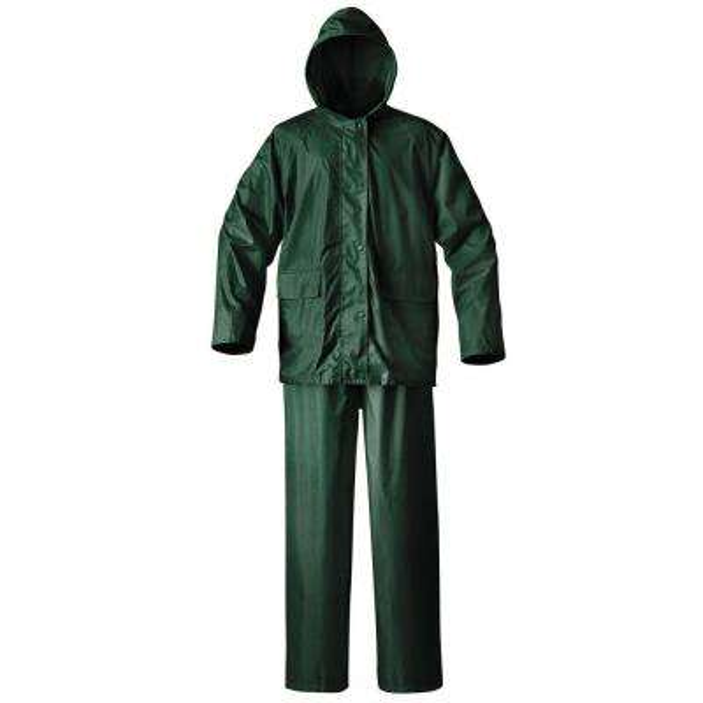 Mens Simplex 2X-Large Green Rainsuit