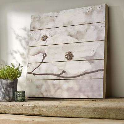 "24 in. x 24 in. ""Serenity Blossoms"" Printed Wooden Wall Art"