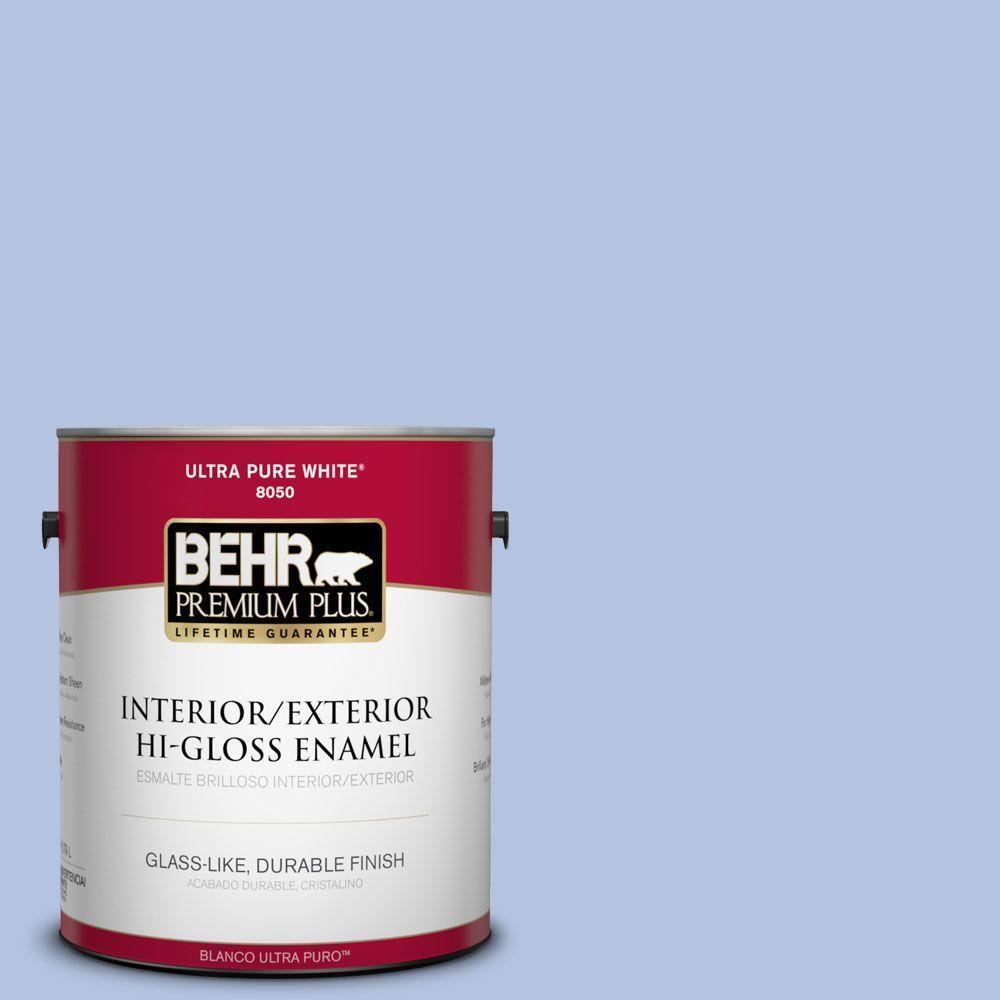 BEHR Premium Plus 1-gal. #600C-3 Periwinkle Bud Hi-Gloss Enamel Interior/Exterior Paint