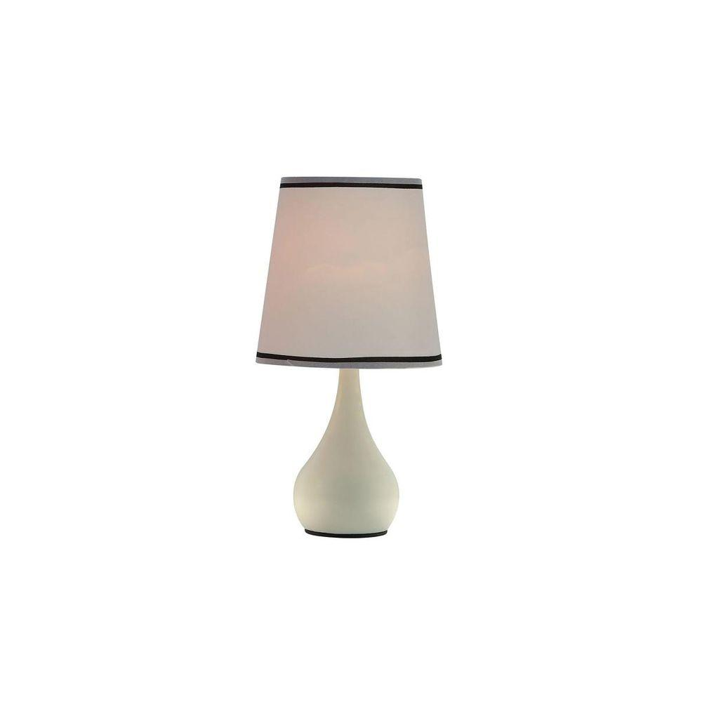 15 in. Ivory White High Modern Touch Lamp