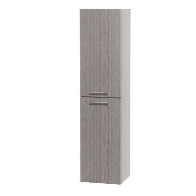 Bailey 13-1/2 in. W x 56 in. H x 12-1/4 in. D Bathroom Storage Wall Cabinet in Grey Oak