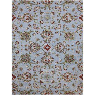 Floral 7 X 9 Wool Area Rugs Rugs The Home Depot