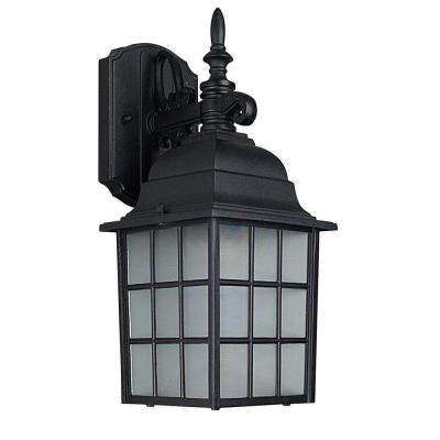 Bledsoe 1-Light Black Outdoor Wall Lantern