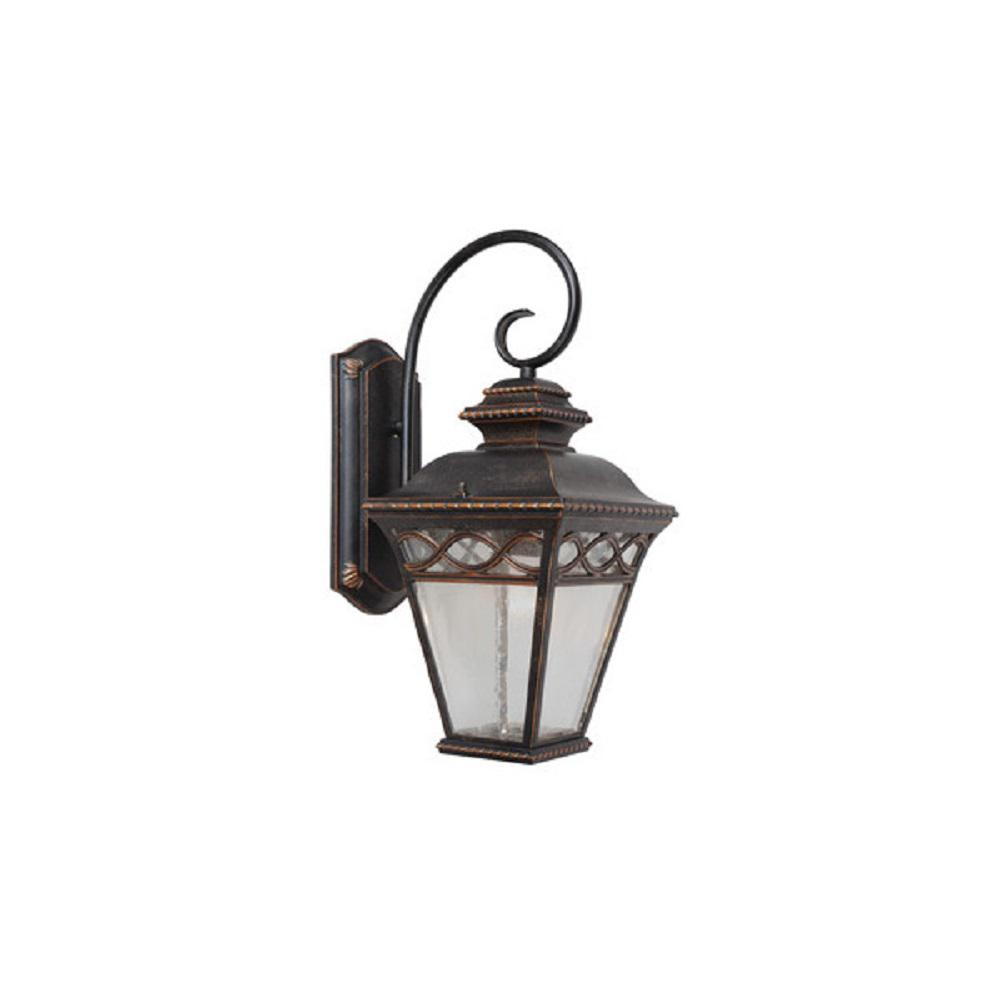 Cheri 1-Light Oil-Rubbed Bronze Outdoor Wall Mount Barn Light Sconce Latern
