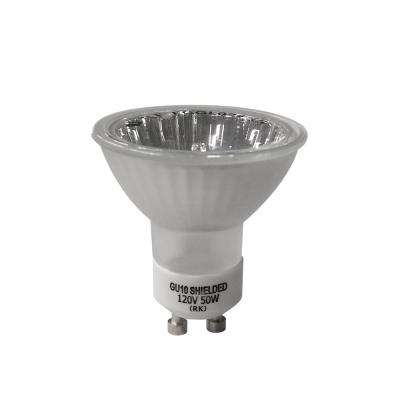 50-Watt GU10-16 Partial Reflective Flood Halogen Light Bulb (3-Pack)