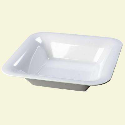 14.0 in. square, Melamine Designer Displayware Wide Rim Bowl in White (Case of 4)