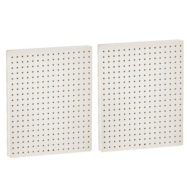 20.25 in H x 16 in W Pegboard White Styrene One Sided Panel (2-Pieces per Box)
