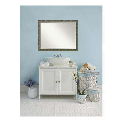 Barcelona Champagne Wood 44 in. W x 34 in. H Traditional Bathroom Vanity Mirror