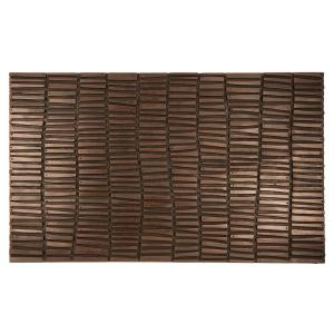 Entryways Wood Wall 18 inch x 30 inch Recycled Rubber Door Mat by Entryways